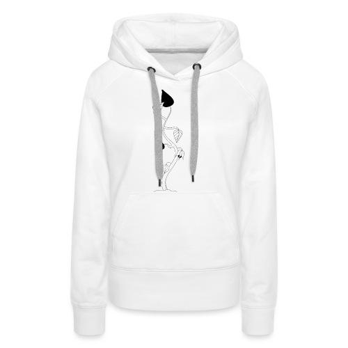 Lanterne chinoise minimaliste - Sweat-shirt à capuche Premium pour femmes
