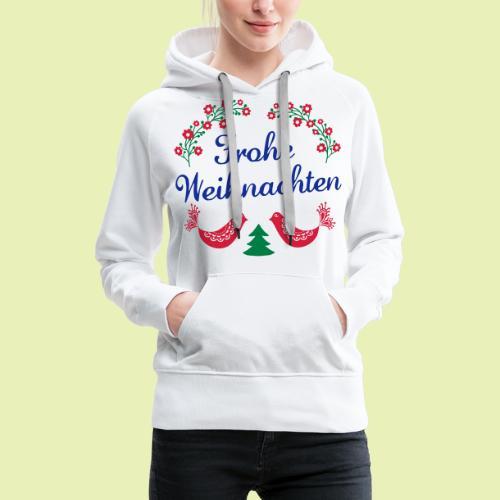 frohe Weihnachten 02-3c - Frauen Premium Hoodie