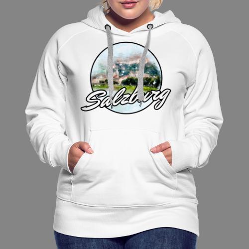 SBG Salzburg Stadt Österreich Wasserfarben Shirt - Frauen Premium Hoodie