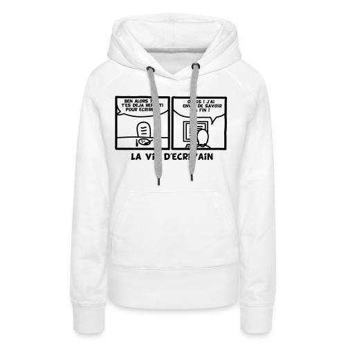 BD_ECRIVAIN - Sweat-shirt à capuche Premium pour femmes