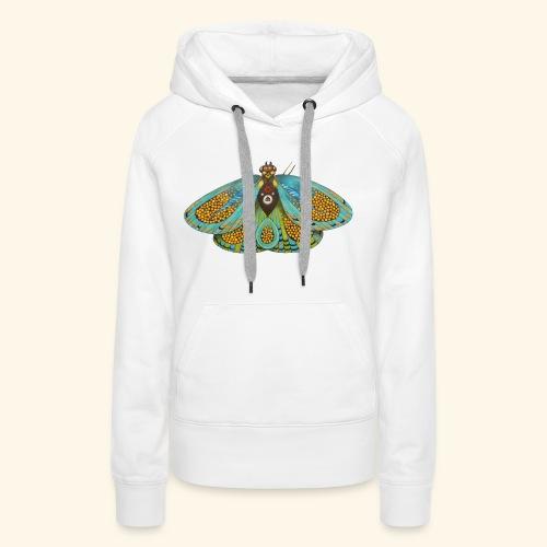Psychedelic butterfly - Felpa con cappuccio premium da donna