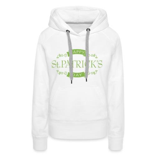 OLD SCHOOL HAPPY ST. PATRICK'S DAY - Sweat-shirt à capuche Premium pour femmes