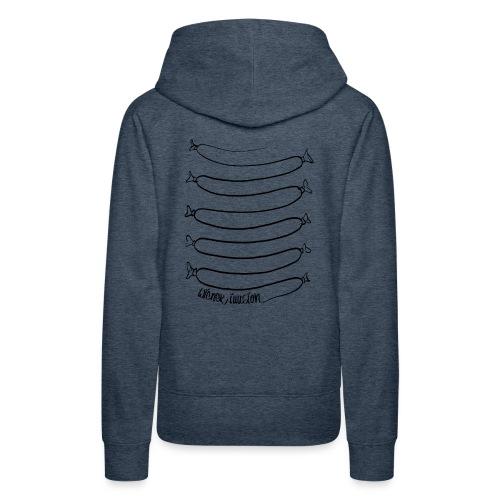 Wiener Illusion (schwarz auf weiß) - Frauen Premium Hoodie