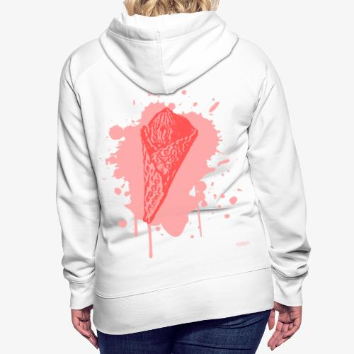 2reborn Pink Eat ICE CREAM Eis Ice Eiscreme red - Frauen Premium Hoodie