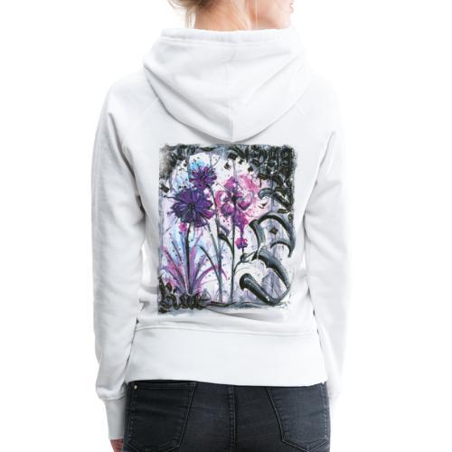 Crazy Flowers - Frauen Premium Hoodie