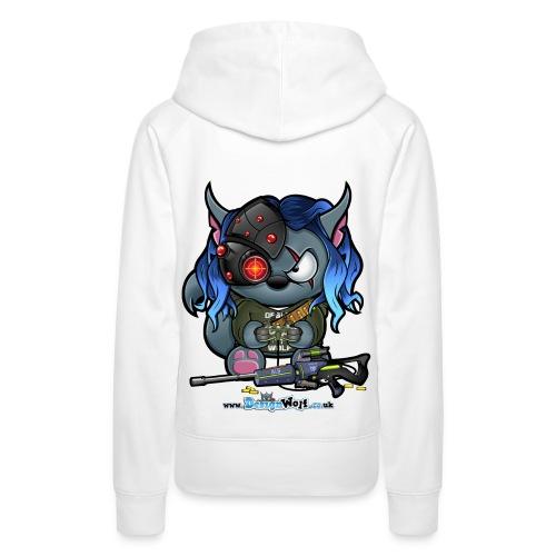 Nyah Gamer Wolf - WO - Women's Premium Hoodie