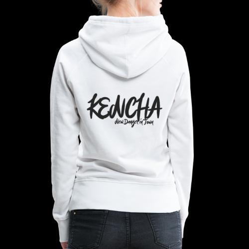 kencha zwart - Vrouwen Premium hoodie