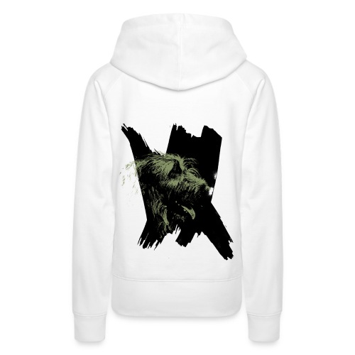 IW Dame Kaki - Sweat-shirt à capuche Premium pour femmes