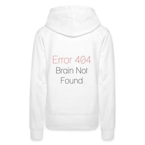 Error 404 - Felpa con cappuccio premium da donna
