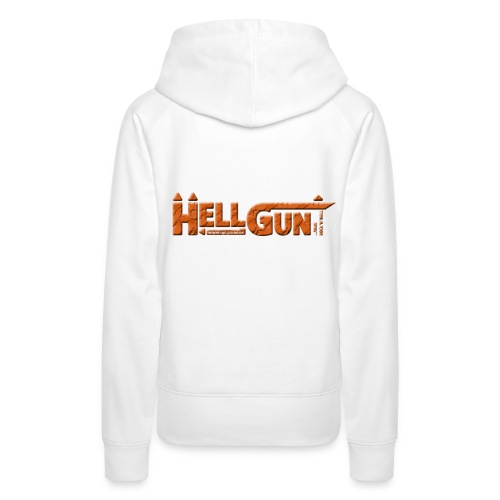 HELLGUN logo 2014 orange png - Frauen Premium Hoodie