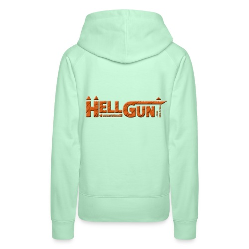 HELLGUN logo 2014 orange png - Frauen Premium Hoodie