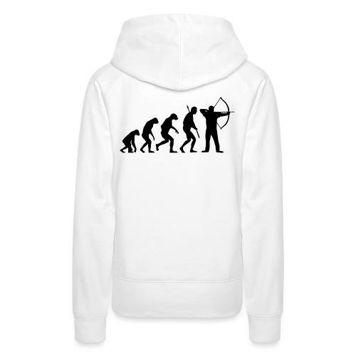 EvolutionArchery Noir - Sweat-shirt à capuche Premium pour femmes
