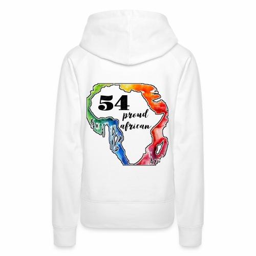 54 Proud African Design - Vrouwen Premium hoodie