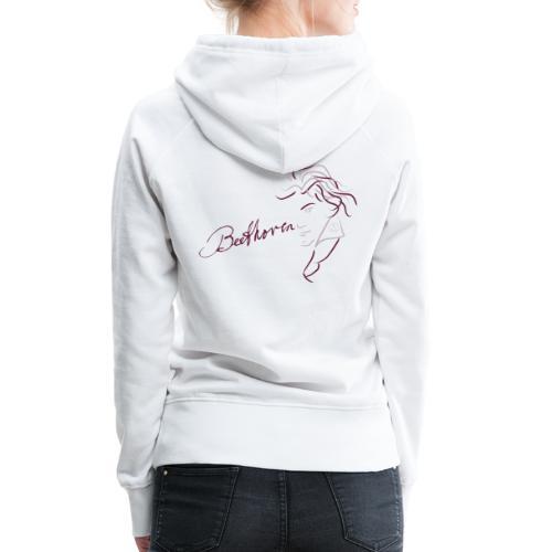 Beethoven (aubergine/rosa) - Frauen Premium Hoodie