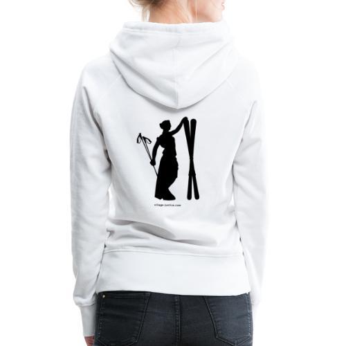 La justice au ski - Sweat-shirt à capuche Premium pour femmes