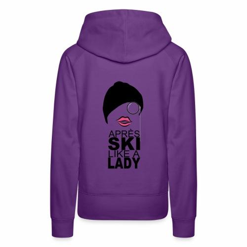 LIKE A lady png - Frauen Premium Hoodie