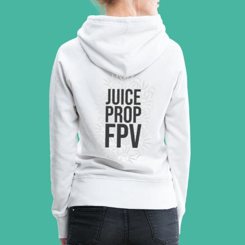 JuicePropFPV LOGO Pile Text Only - Frauen Premium Hoodie