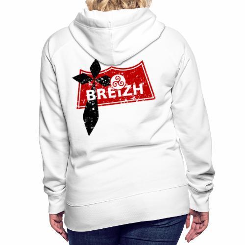 Breizh Usé - Sweat-shirt à capuche Premium pour femmes
