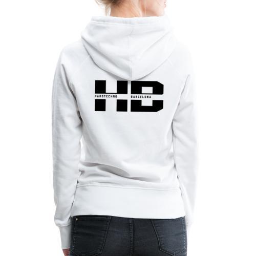 HB 2021negro - Sudadera con capucha premium para mujer