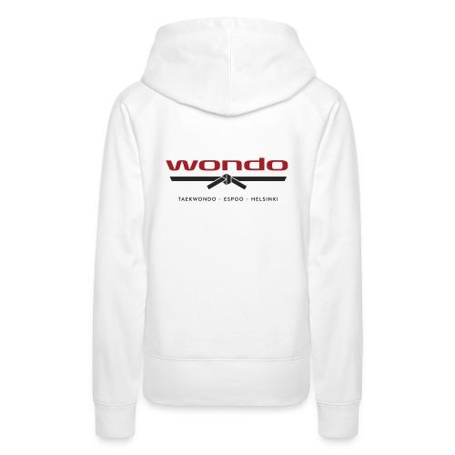 Wondo värillinen logo - Naisten premium-huppari