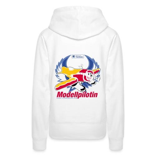 Modellpilotin URL blau - Frauen Premium Hoodie