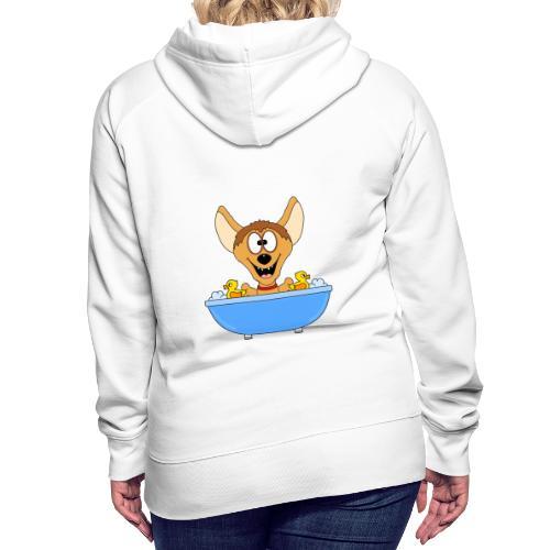 Lustige Hyäne - Badewanne - Kinder - Baby - Fun - Frauen Premium Hoodie