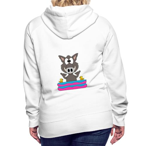 Lustiges Wildschwein - Planschbecken - Shaka - Fun - Frauen Premium Hoodie