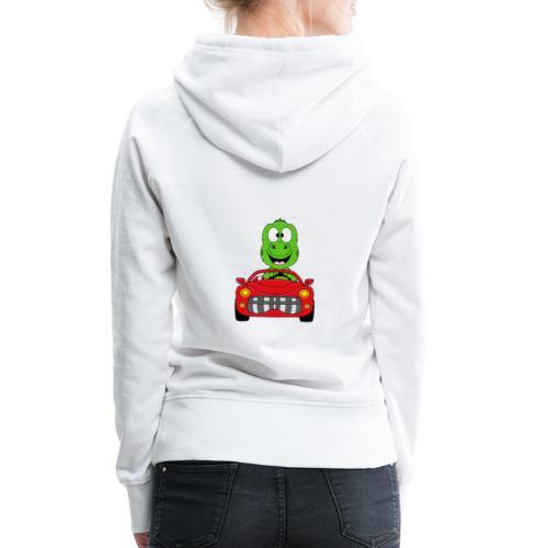 Lustiger Gecko - Echse - Auto - Cabrio - Car - Fun - Frauen Premium Hoodie