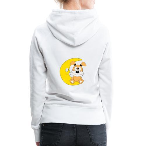 Lustiger Hund - Dog - Knochen - Mond - Tier - Frauen Premium Hoodie