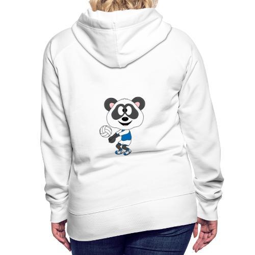 Lustiger Panda - Bär - Volleyball - Sport - Fun - Frauen Premium Hoodie