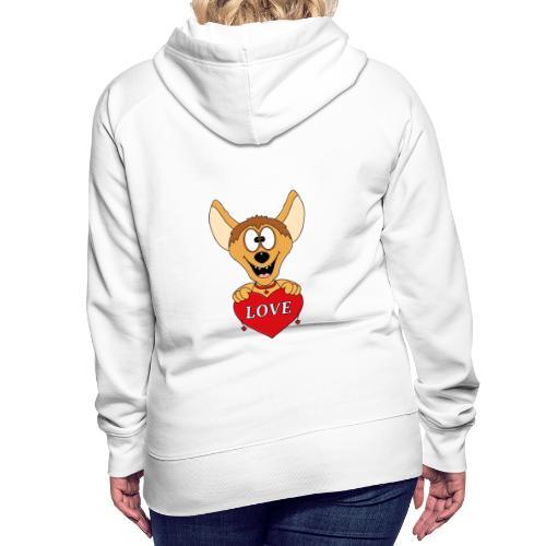 Lustige Hyäne - Herz - Liebe - Love - Tier - Fun - Frauen Premium Hoodie