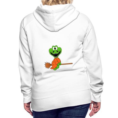 Lustiges Krokodil - Hexe - Kind - Baby - Fun - Frauen Premium Hoodie