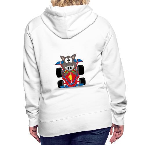 Lustiges Wildschwein - Rennwagen - Auto - Tier - Frauen Premium Hoodie