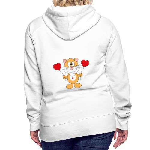Lustiger Hamster - Herzen - Luftballons - Liebe - Frauen Premium Hoodie