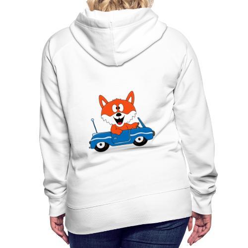 Fuchs - Auto - Cabrio - Tier - Führerschein - Fun - Frauen Premium Hoodie