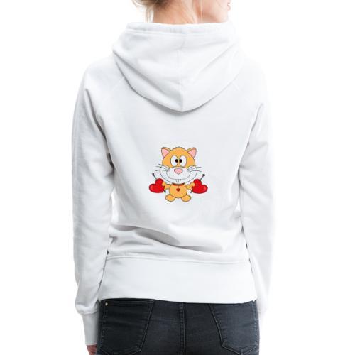 Hamster - Herzen - Liebe - Love - Kind - Baby - Frauen Premium Hoodie