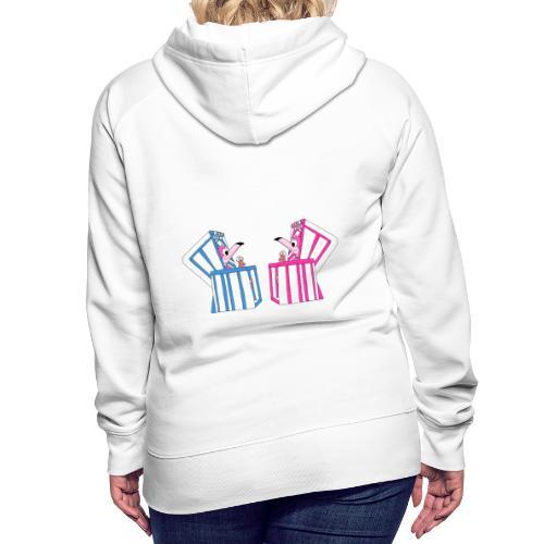 Flamingos - Strandkorb - Eis - Sommer - Urlaub - Frauen Premium Hoodie