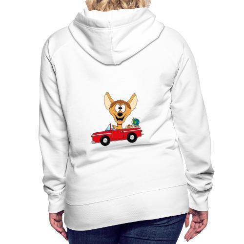 Hyäne - Auto - Reise - Urlaub - Tierisch - Fun - Frauen Premium Hoodie
