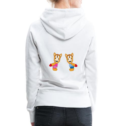 Pferde - Ponys - Reiten - Herzen - Liebe - Love - Frauen Premium Hoodie