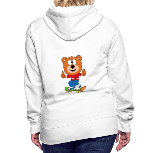 Teddy - Bär - Skateboard - Sport - Kind - Baby - Frauen Premium Hoodie