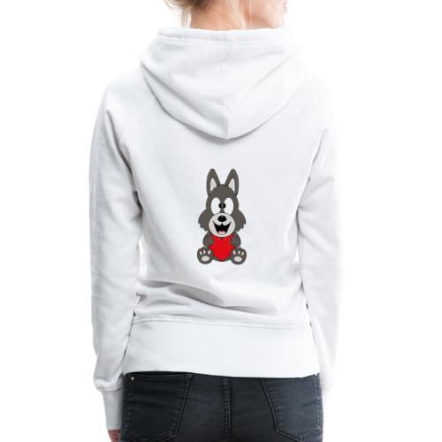 Wolf - Herz - Liebe - Love - Tier - Kind - Baby - Frauen Premium Hoodie