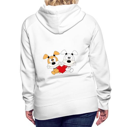 Hunde - Herz - Liebe - Love - Kind - Baby - Tier - Frauen Premium Hoodie