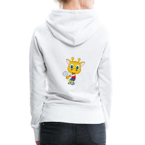 Giraffe - Volleyball - Sport - Tier - Kind - Baby - Frauen Premium Hoodie
