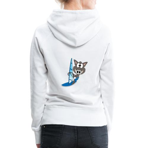Wildschwein - Surfer - Windsurfer - Sport - Frauen Premium Hoodie
