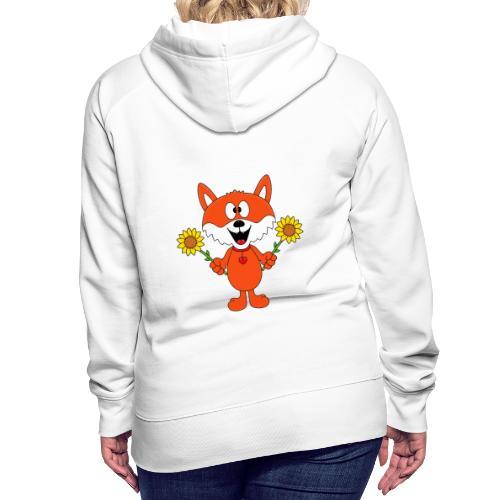 Fuchs - Sonnenblumen - Kinder - Tier - Baby - Frauen Premium Hoodie