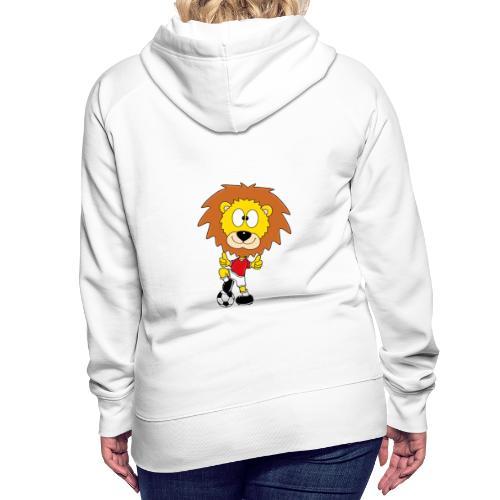 Löwe - Fußball - Kind - Sport - Baby - Tier - Fun - Frauen Premium Hoodie