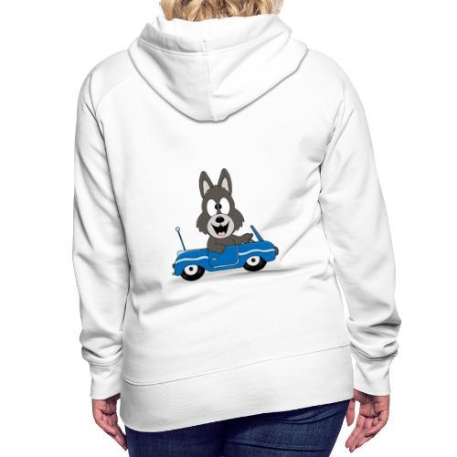 Wolf - Auto - Cabrio - Führerschein - Fahrschule - Frauen Premium Hoodie