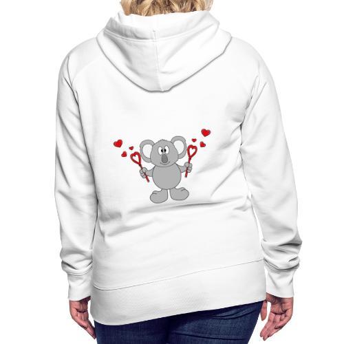 Koala - Bär - Seifenblasen - Herzen - Liebe - Love - Frauen Premium Hoodie