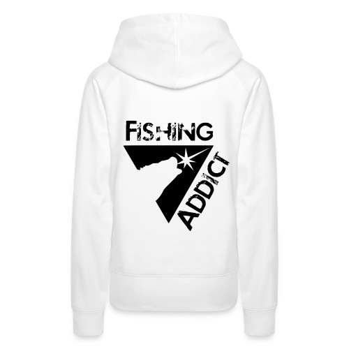 Fishing addict - Sweat-shirt à capuche Premium pour femmes