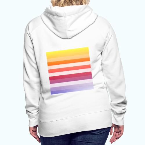 Rainbow Abstract Acrylic Painting - Women's Premium Hoodie